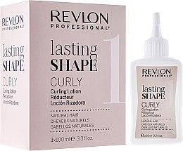 Düfte, Parfümerie und Kosmetik Well-Lotion für normales Haar 3x100 ml - Revlon Professional Lasting Shape Curly Lotion Natural Hair