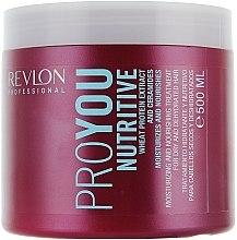 Düfte, Parfümerie und Kosmetik Feuchtigkeitsspendende und pflegende Maske für trockenes und dehydriertes Haar - Revlon Professional Pro You Nutritive Mask