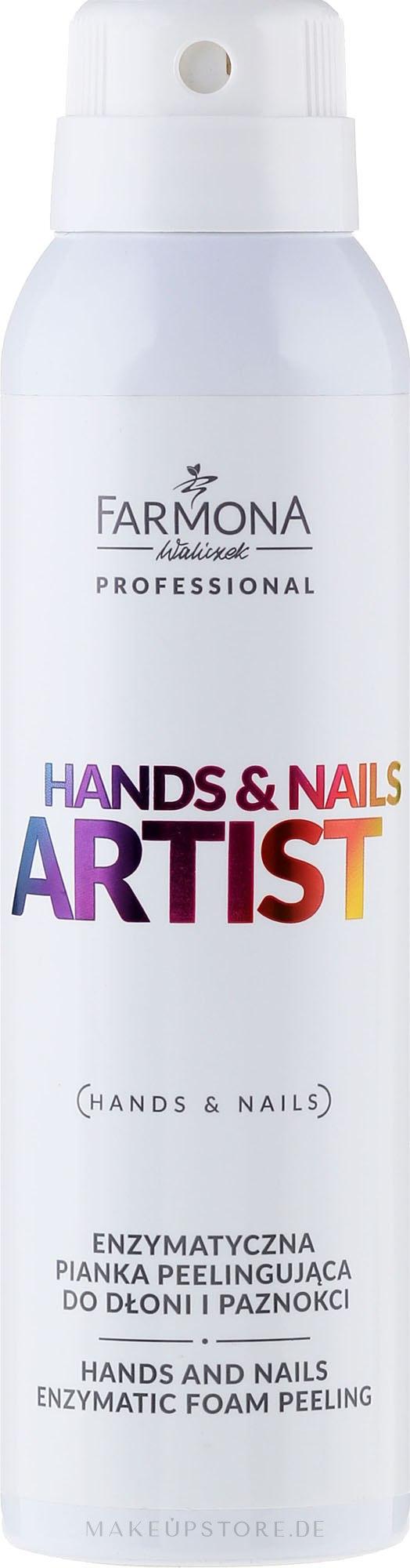 Enzymatisches Hand- und Nagelschaum - Farmona Professional Hands and Nails Artist Enzymatic Foam Peeling — Bild 150 ml