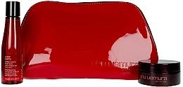 Düfte, Parfümerie und Kosmetik Haarpflegeset - Shu Uemura Art Of Hair Color Lustre (shmp/75ml + h/wax/77ml + bag)