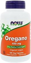 Düfte, Parfümerie und Kosmetik Nahrungsergänzungsmittel Oregano 450 mg - Now Foods Oregano