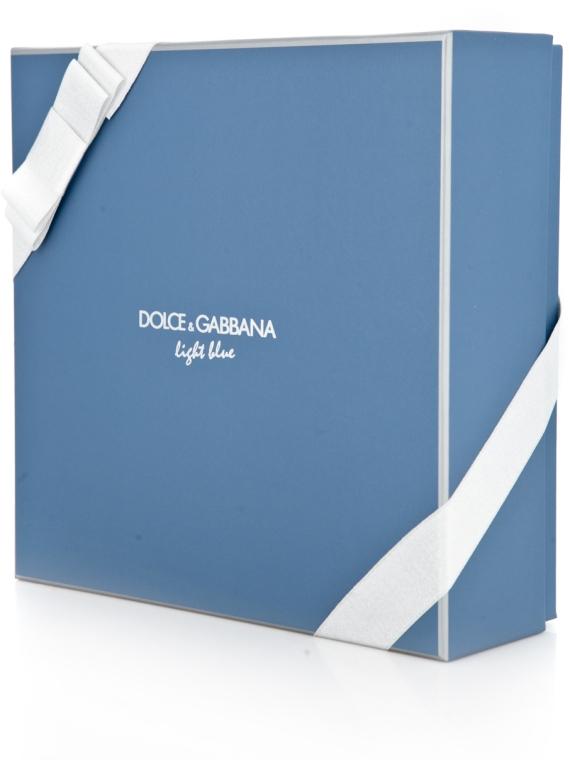 Dolce & Gabbana Light Blue Pour Homme - Duftset (Eau de Toilette 125ml + Duschgel 50ml +After Shave Balsam 75ml) — Bild N4