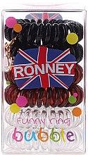 Düfte, Parfümerie und Kosmetik Haargummis Farb-Mix 6 St. №1 - Ronney Professional Funny Ring Bubble 1