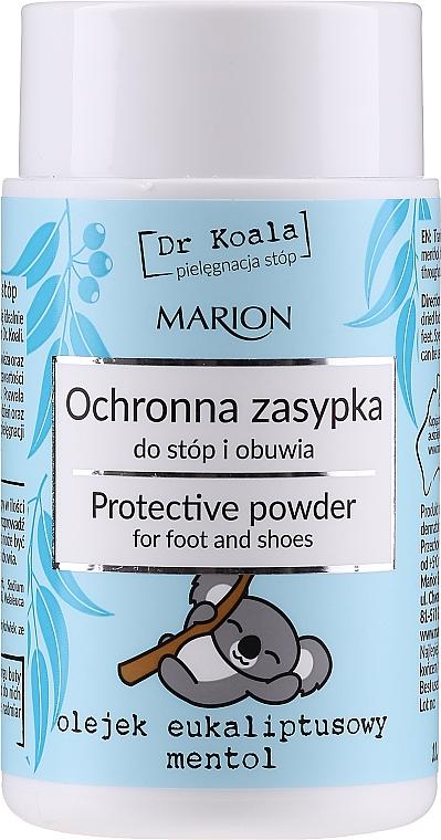 Schützender Puder für Füße und Schuhe mit Eukalyptusöl und Menthol - Marion Dr Koala Protective Powder — Bild N1