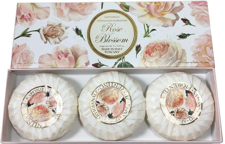 Seifenset Rose - Saponificio Artigianale Fiorentino Rose Blossom Soap — Bild N2