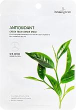 Düfte, Parfümerie und Kosmetik Tuchmaske mit grünem Tee - Beauugreen Antioxidant Green Tea Essence Mask
