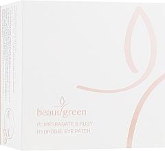 Düfte, Parfümerie und Kosmetik Augenpatches mit Granatapfelextrakt - BeauuGreen Pomegranate & Ruby Hydrogel Eye Patch