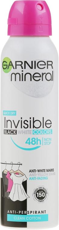 Deospray Antitranspirant - Garnier Mineral Invisible Black White Colors — Bild N1