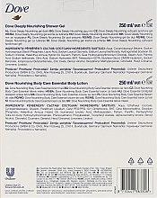 Dove Classic Beauty - Körperpflegeset (Duschgel/250ml + Körperlotion/250ml) — Bild N4