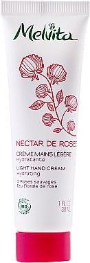 Leichte Handcreme mit 3 Wildrosensorten und Rosenblütenwasser - Melvita Nectar De Rose Light Hand Cream — Bild N1