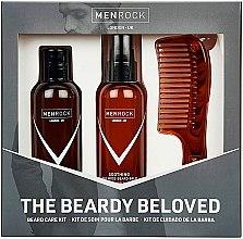 Düfte, Parfümerie und Kosmetik Bartpflegeset - Men Rock The Beardy Beloved Starter Nourishing Set (Bartbalsam 100ml + Bartseife 100ml + Bartkamm 1St.)