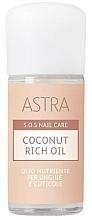 Düfte, Parfümerie und Kosmetik Kokosöl für Nägel und Nagelhaut - Astra Make-up Sos Nails Care Coconut Rich Oil