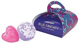 Düfte, Parfümerie und Kosmetik Geschenkset Seife und Badebombe - Cafe Mimi Blue Fantasy (Seife 80g + Badebombe 120g)