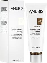 Düfte, Parfümerie und Kosmetik Erneuerndes Gesichtspeeling mit Kaviar und Perlenpulver - Anubis Effectivity Caviar & Pearl Peeling