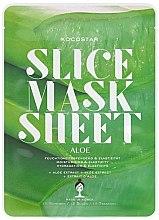 Düfte, Parfümerie und Kosmetik Feuchtigkeitsspendende Tuchmaske mit Aloe Vera-Extrakt - Kocostar Slice Mask Sheet Aloe