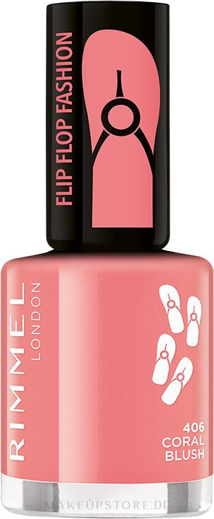 Nagellack - Rimmel Flip Flop Fashion — Bild 406 - Coral Blush