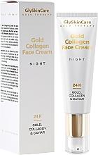Düfte, Parfümerie und Kosmetik Regenerierende und feuchtigkeitsspendende Nachtcreme mit Kollagen, 24 Karat Gold und Kaviar - GlySkinCare Gold Collagen Night Face Cream