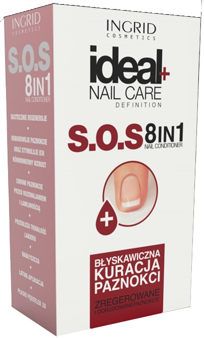 Nagelkur 8in1 - Ingrid Cosmetics Ideal Nail Care Definition SOS 8 in 1 — Bild N1