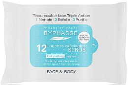 Düfte, Parfümerie und Kosmetik Exfolierende Tücher für Körper und Gesicht - Byphasse Exfoliating Wipes All Skin Type