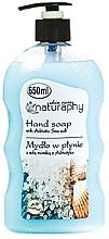 Düfte, Parfümerie und Kosmetik Flüssige Handseife mit Meersalz - Bluxcosmetics Naturaphy Hand Soap
