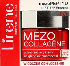Düfte, Parfümerie und Kosmetik Festigende Anti-Aging Tagescreme gegen tiefe Falten mit Vitamine A, E, K und PP und Avocadoöl - Lirene Mezo Collagene SPF 15
