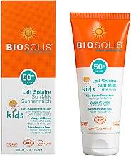 Düfte, Parfümerie und Kosmetik Sonnenschützende Gesichts- und Körpermilch für Kinder SPF 50+ - Biosolis Kids Sun Milk For Face And Body SPF 50+