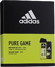 Düfte, Parfümerie und Kosmetik Adidas Pure Game - Körperpflegeset (Deospray 150ml + 2in1 Shampoo und Duschgel 250ml)