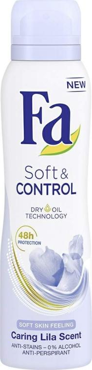 Deospray Antitranspirant - Fa Soft & Control Lila Scent Deodorant — Bild N1