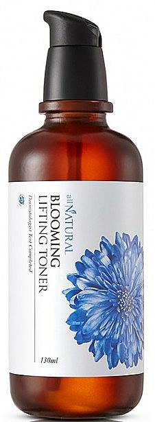 Feuchtigkeitsspendendes und glättendes Gesichtstonikum für reife Haut mit 82 % Kornblumenwasser - All Natural Blooming Lifting Toner — Bild N1