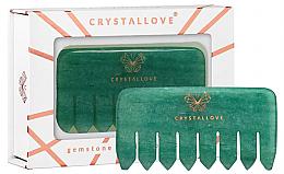 Düfte, Parfümerie und Kosmetik Handgefertigter Massagekamm aus Aventurinquarz für die Kopfhaut - Crystallove Aventurine Comb