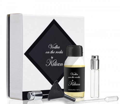 Kilian Vodka On The Rocks Refill - Duftset (Eau de Parfum Refill 50ml + Zerstäuber 7,5ml + Sprühpumpe + Pasteur Pipette + Trichter) — Bild N1