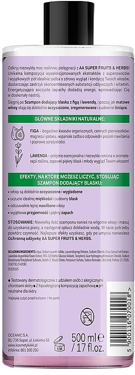 Shampoo für mehr Glanz mit Feige und Lavendel - AA Super Fruits & Herbs Shampoo Fig & Lavender — Bild N2