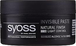 Düfte, Parfümerie und Kosmetik Modellierende Haarpaste Leichter Halt - Syoss Invisible Paste Light Control