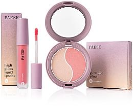Düfte, Parfümerie und Kosmetik Make-up Set - Paese (Gesichtspuder und Rouge 4.5g + Flüssiger Lippenstift 4.5ml)