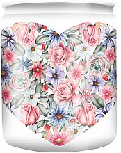 Düfte, Parfümerie und Kosmetik Duftkerze im Glas mit Muster White Flower 82/68 - Bolsius Aromatic
