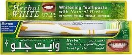 Zahnpflegeset - White Glo Herbal White (Zahnpasta 100 ml & Zahnbürste 1 St.) — Bild N1