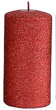 Düfte, Parfümerie und Kosmetik Dekorative Kerze rot 7x10 cm - Artman Glamour