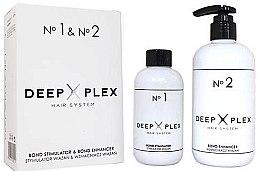 Düfte, Parfümerie und Kosmetik Haarpflegeset - Stapiz Deep Plex System No.1 & No.2 Set (Haaremulsion 150ml + Haaremulsion 290ml)
