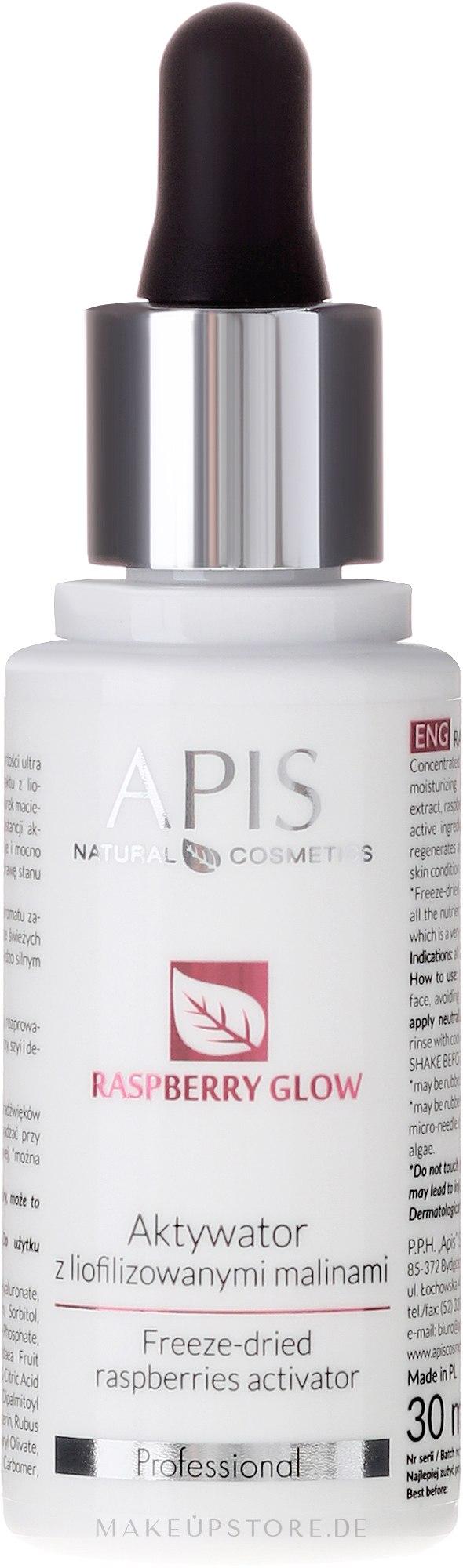Gesichtsaktivator mit gefriergetrockneten Himbeeren - APIS Professional Raspberry Glow — Bild 30 ml