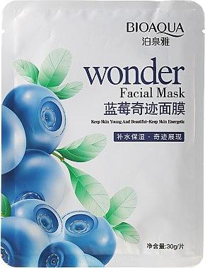 Energetisierende Gesichtsmaske mit Heidelbeere - Bioaqua Wonder Facial Mask — Bild N1