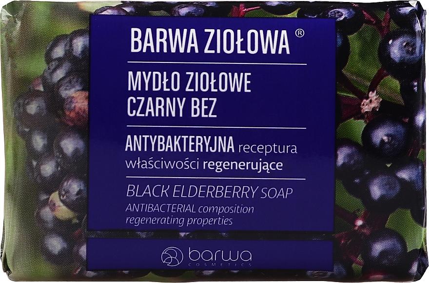 Regenerierende antibakterielle Kräuterseife - Barwa Black Elderberry Soap