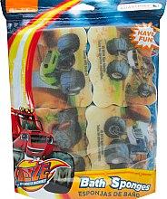 Düfte, Parfümerie und Kosmetik Badeschwamm-Set Blaze And The Monster Machines 4 St. gelb - Suavipiel Bath Sponges Blaze And The Monster Machines