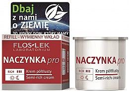 Düfte, Parfümerie und Kosmetik Halbfettige Gesichtscreme - Floslek Dilated Capillaries Semi-Rich Cream Refill (Refill)
