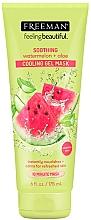 Düfte, Parfümerie und Kosmetik Beruhigende Gesichtsgel-Maske mit Wassermelone und Aloe - Freeman Feeling Beautiful Soothing Cooling Gel Mask