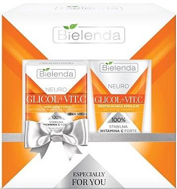 Gesichtspflegeset - Bielenda Neuro Glicol + Vitamin C (Feuchtigskeitscreme SPF 20 50ml + Waschemulsion 150g) — Bild N1