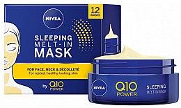 Düfte, Parfümerie und Kosmetik Anti-Falten Gesichtsmaske für die Nacht mit Coenzym Q10 und Kreatin - Nivea Q10 Power Sleeping Melt-In Mask