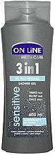 Düfte, Parfümerie und Kosmetik Duschgel 3 in 1 für Männer - On Line Men & Care Sensitive Shower Gel