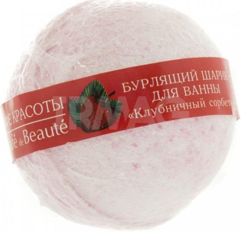 "Badebombe ""Erdbeersorbet"" - Le Cafe de Beaute Bubble Ball Bath — Bild N1"