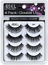 Düfte, Parfümerie und Kosmetik Set Künstliche Wimpern 8 St. - Ardell Double Up 4 Pack 204 Lashes