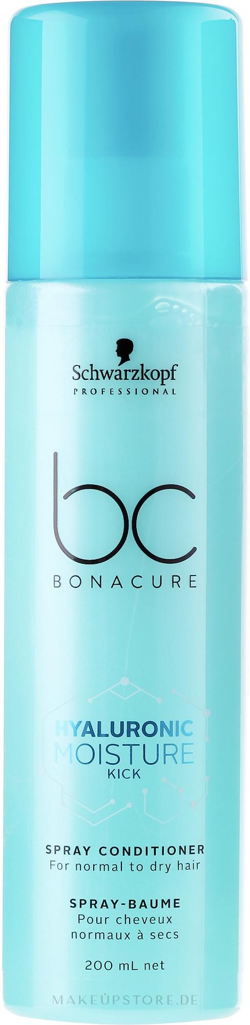 Feuchtigkeitsspendender Haarspray-Conditioner für normales bis trockenes Haar - Schwarzkopf Professional Bonacure Hyaluronic Moisture Kick Spray Conditioner — Bild 200 ml